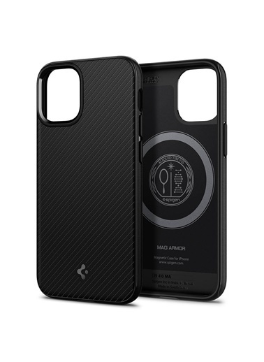 Spigen iPhone 12 Mini Kılıf, Spigen Mag Armor Siyah